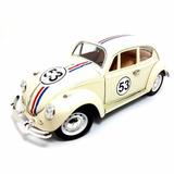 Fusca 53 Herbie 1/18 Vw Beetle Miniatura Metal