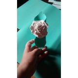 10 Porta Guardanapos De Eva Com Rosa