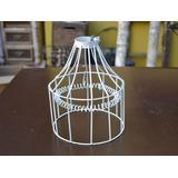 Armazón Lámpara P/colgar Alambre Tipo Industrial Blanco