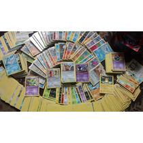 Mega Lote Pokemon - 50 Cartas Com 3 Raras + 2 Trainer