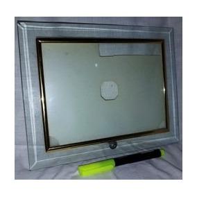 Porta Retratos Em Vidro De Qualidade. Bizotado, Mold Dourada