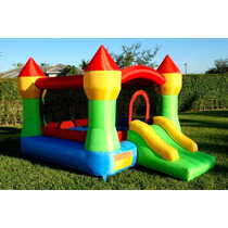 Juego Inflable Castillo Brincol��n Jardín Eventos Fiestas