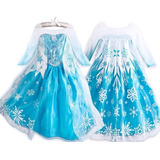 Fantasia Vestido Frozen Elsa - Pronta Entrega + Brinde