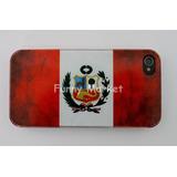 Case Iphone 4 Iphone 4s Carcasa Bandera Peru Retro 10 Soles