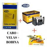 Jogo De Cabo + Velas + Bobina Gol Fox Polo 1.0 1.6 2008/