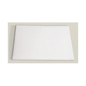 Tabua Placa Carne Polietileno Lisa Branca 1x40x60cm
