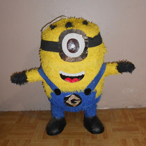 Piñata Mediana De Minion!!! Mide 65cm De Altura!!