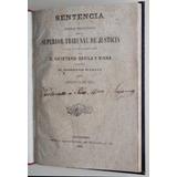 Libro Sentencia Judicial Viana Contra García Montevideo 1869