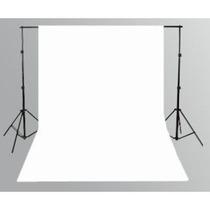 Tecido 3x3 Branco + Suporte Fundo Infinito Estúdio Fotográfo