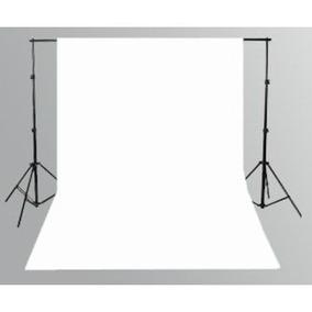 1 Tecido 3x3 Branco + Suporte Fundo Infinito Estúdio Foto