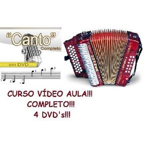 Curso De Acordeon E Canto! Aulas Em 4 Dvds!