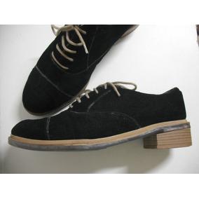 Sapato Feminino Preto Cadarço Tam 39 Bom Estado