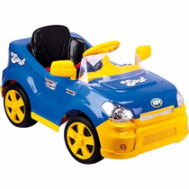 Carro Passeio Elétrico Infantil Rádio Controle Sout Car Azul