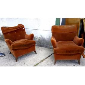 exclusivo par de sillones art deco diseo retro vintage s