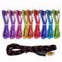 Cable Auxiliar Audio Plug 3.5 Tipo Agujeta Colores