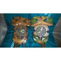 Relojes Tipo Cu Cu Alemanes Falta Limpieza C/pesa S/pendulo