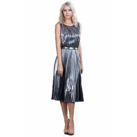 Vestido Ark & Co. Midi Color Plata