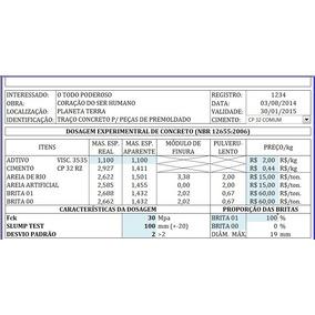 Dosagem De Concreto Em Excel Automatizado