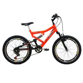 Bicicleta Mormaii Aro 20 Full Fa240 Laranja Neon