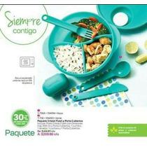 Tupperware Paquete De Plato Con Divisiones Y Cubiertos