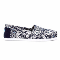 Zapatos Toms Navy Floral Mujer