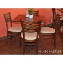 Mesa De Madera Para Restaurantes, Bares Y Cafeterias