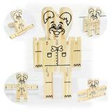 Ursinho Articulado -brinquedos Em Madeira