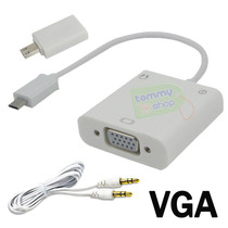 Adaptador Mhl A Vga + Audio S3 S4 Note Tablet Htc Lg Xperia