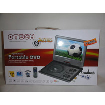 Dvd Player Portatil Tela 9.8 Com Tv Digital Jogo Mp3 4 Gira