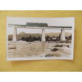 656- Foto Postal Tren Coche Motor, Rio Cosquin