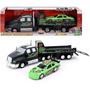 Dickie Toys Majorette Racing Transporter Con Coche De La