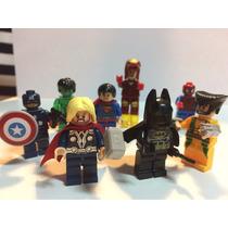 Kit 8 Vingadores Lego Homem Aranha Ferro Hulk Frete Gratis