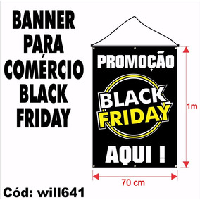 Banner Digital Black Friday Vitrine Comércio Loja Will641