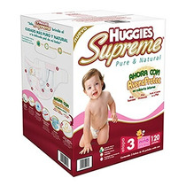 Huggies Supreme Pañales Etapa 3 Niña 120 Piezas