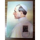 Tarjeta Postal Con Estampilla Vaticano Pius P.p Xii