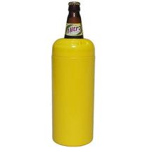 Kit 6 Unidades Porta Garrafa Térmico Cerveja Litrão Amarelo