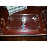 Caja De Acrilico De 13x26x5 Cm De Alto Con Tapa Y Divisione