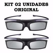 Kit 2 Óculos 3d Ativo Samsung Ssg P51002 Original