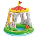 Piscina Inflável Infantil Com Cobertura Castelo Intex -