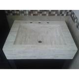 Bacha Mesada Marmol Travertino Baño Toilette 064x042x015