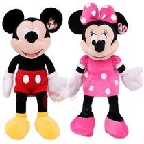 Muñeco Peluche De Mickey 28cm O Minnie Roja-rosa- Musical