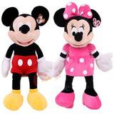Muñeco Peluche De Mickey 28cm O Minnie Roja-rosa