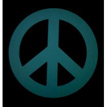 Simbolo De La Paz De Madera Pintado