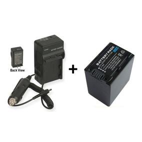 Kit Bateria Np-fv100 + Carregador P/ Sony Dcr-sx20k Sx21