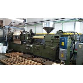 Maquina Inyectora Plastico Schwartz 414 Tn En Funcionamiento
