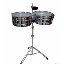 Timbal Power Beat Con Cencerro Cromado De14 Y 152 Ltb-34