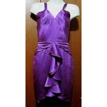 Vestido De Seda Guess By Marciano Color Uva, Talla Xs