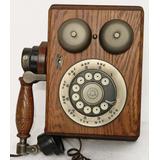Teléfono Antiguo Western Electric Caja De Madera Chica