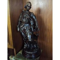 Estatua Escultura En Petit Cazador Árabe Y Su Perro (953)