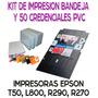 Charola Bandeja Epson T50 L800 Con 50 Credenciales Pvc